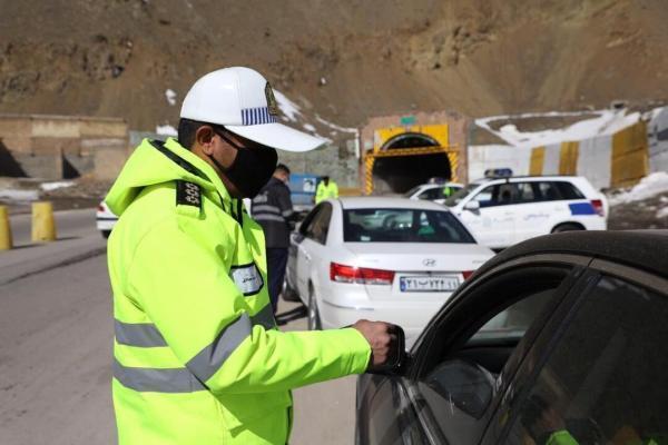 خبرنگاران ممنوعیت تردد خودروهای غیر بومی در جاده کرج - چالوس